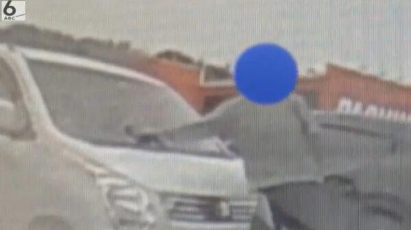 滋賀県甲賀市の駐車場で車ワイパー破壊する三野昌希容疑者