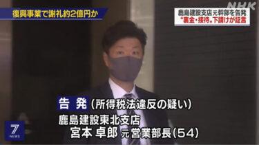 宮本卓郎(鹿島建設元営業部長)の顔画像,SNS,脱税の動機,自宅どこ?