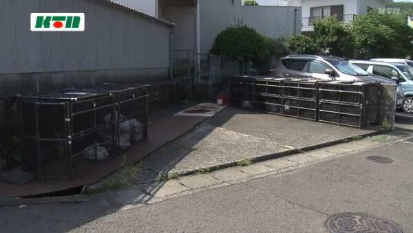 川本良徳容疑者が子ネコを遺棄した場所
