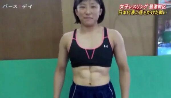 須崎優衣選手の筋肉